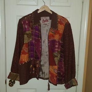 Sharon Anthony Created by Crystal Blazer Jacket 1X
